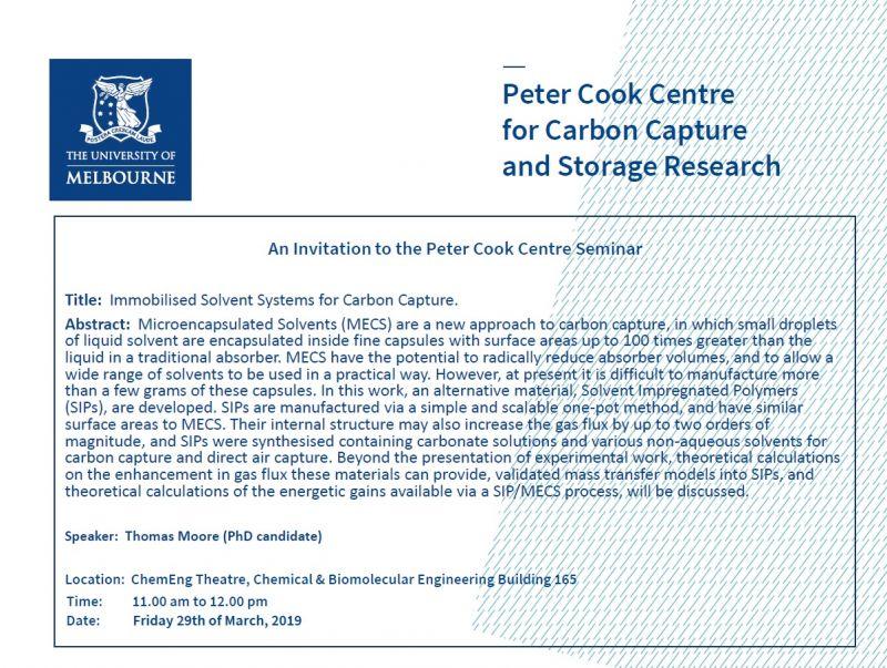The Peter Cook Seminar Series - 29 Mar 2019